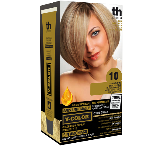 Hair farbe V-color no.10 (platin blond)-heimtrikot mit shampoo und hair maske free TH Pharma